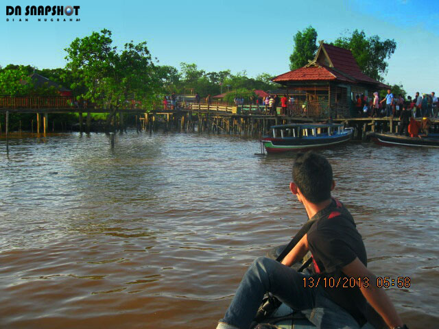 vacation amazing kembang island barito river