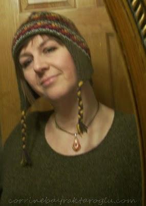 selfie in knitted hat