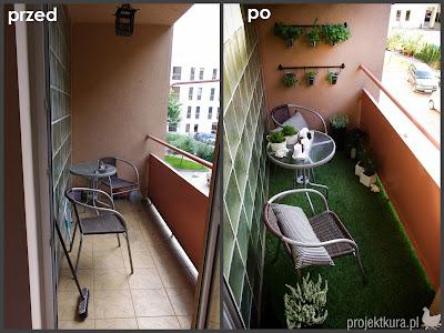 Balkon w mieście - projektkura.pl