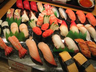 Japanese menu sushi platter