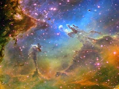 nebulosa pilares da criação