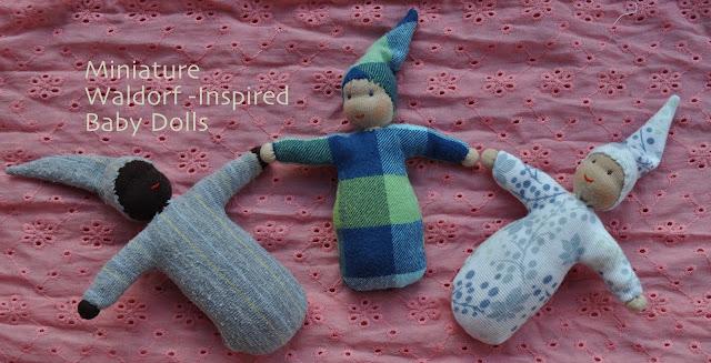 Mini Waldorf dolls