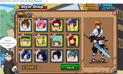 Ninja Saga Hack Ice Village Elite Set Clothes + Hairstyle 2012