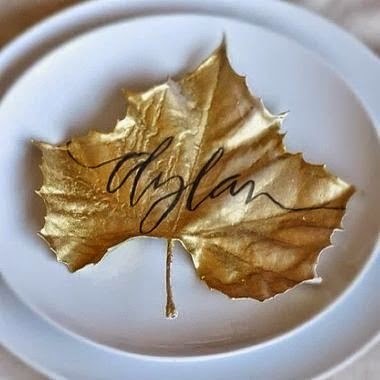 Gold Leaf Place Setting
