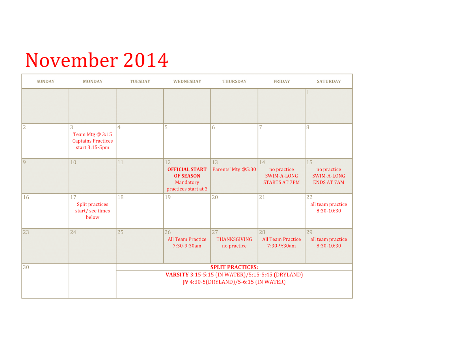 Coronado cougars ladies swimming and diving Agincourt swimming pool schedule 2014