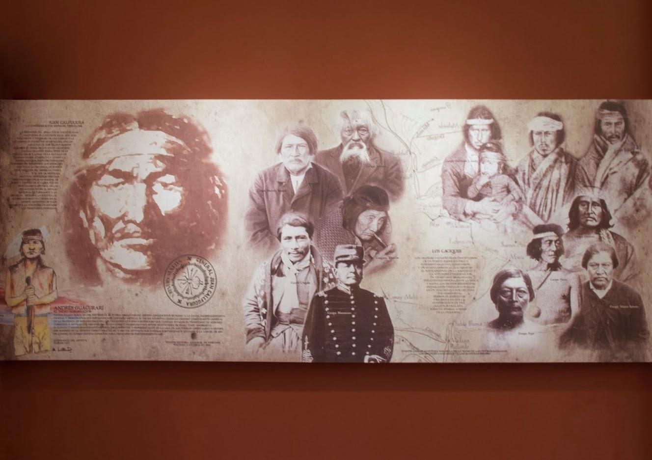 El cacique Inakayal en la Casa Rosada