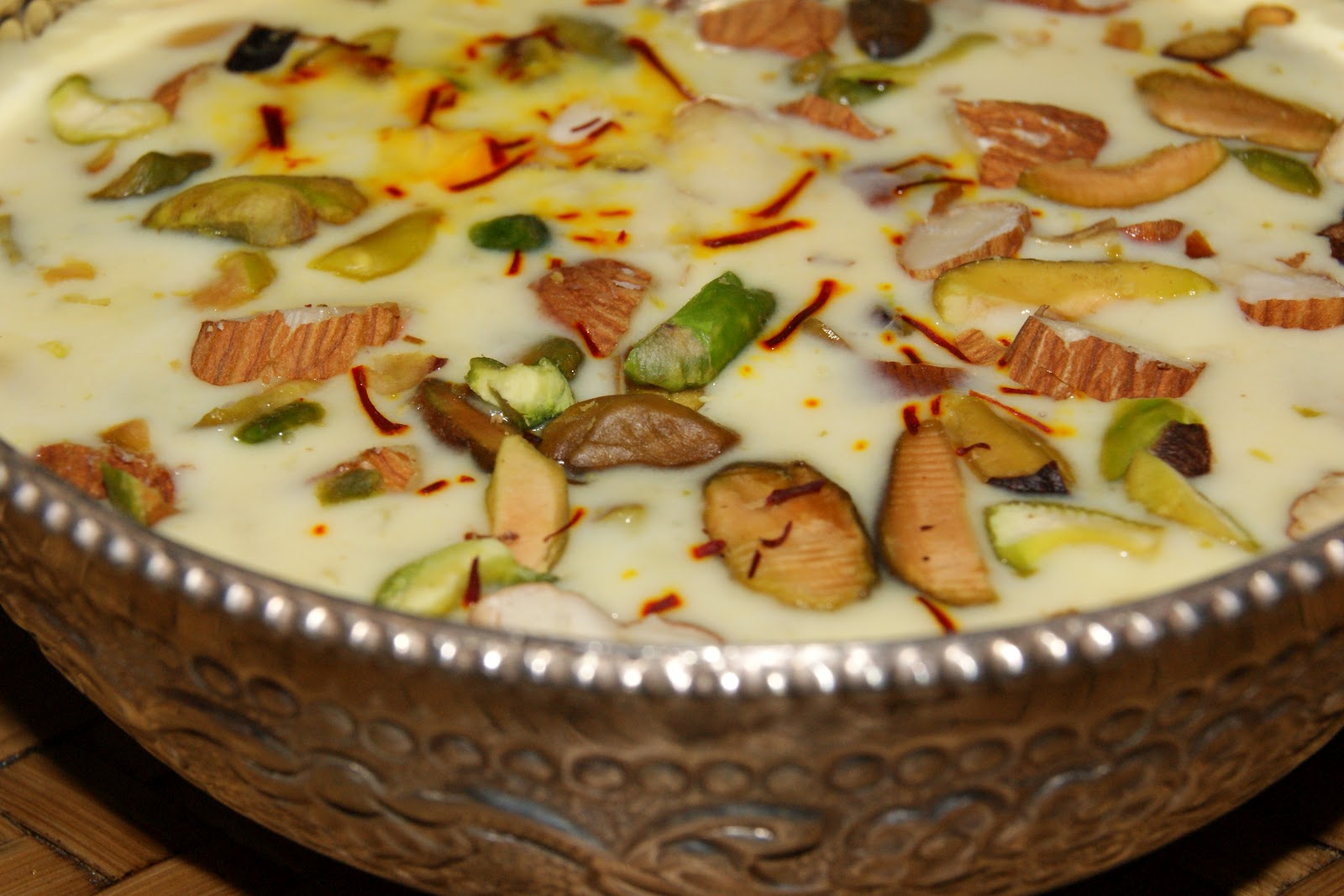 Kheer Indian Rice Pudding With Nuts And Saffron Recipes — Dishmaps