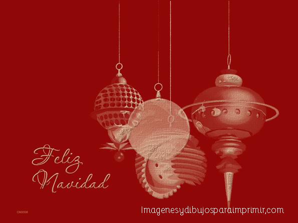 Imprimir y decorar con adornos de navidad