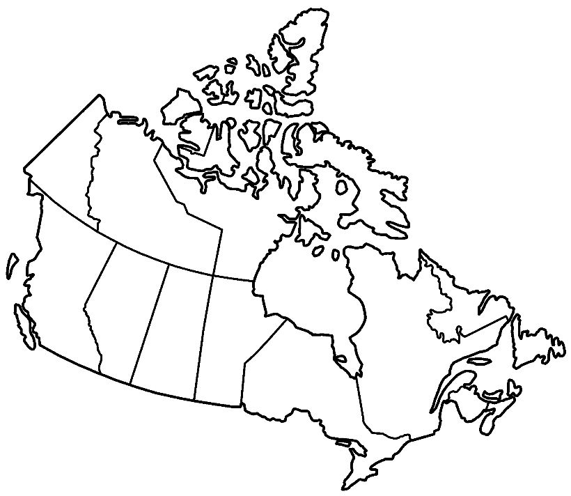 Geography Blog Blank Map Of Canada: Blank Physical Map Of Canada At Infoasik.co