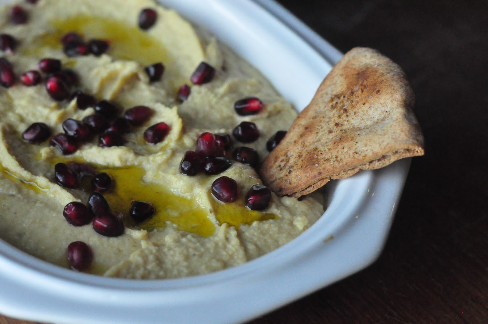 Chickpea Dip With Toasted Cumin & Pomegranate Recipe ...
