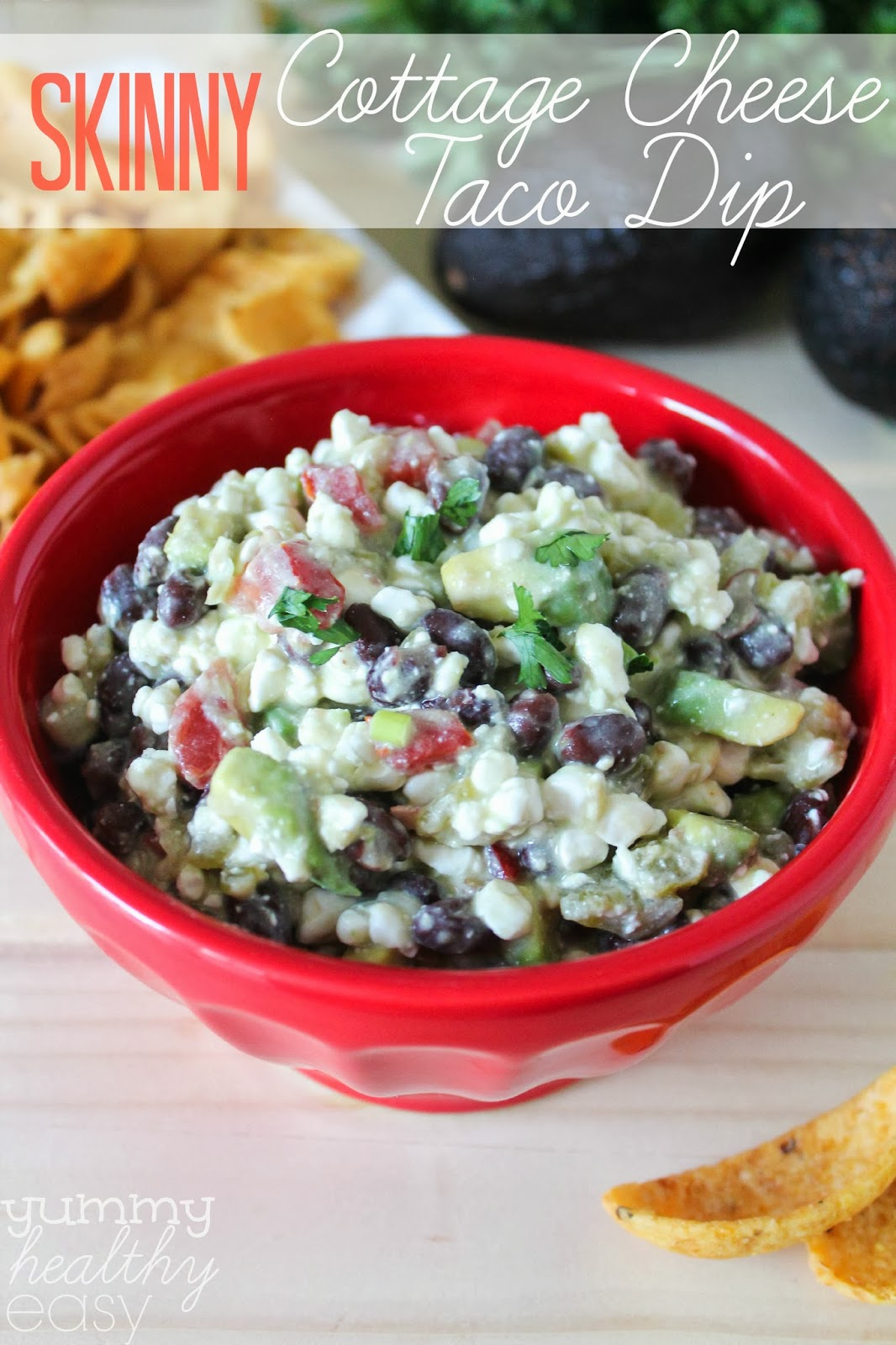Skinny Cottage Cheese Taco Dip - Yummy Healthy Easy