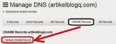 Gambar Cara Setting Domain Baru Idwebhost Ke Blogger