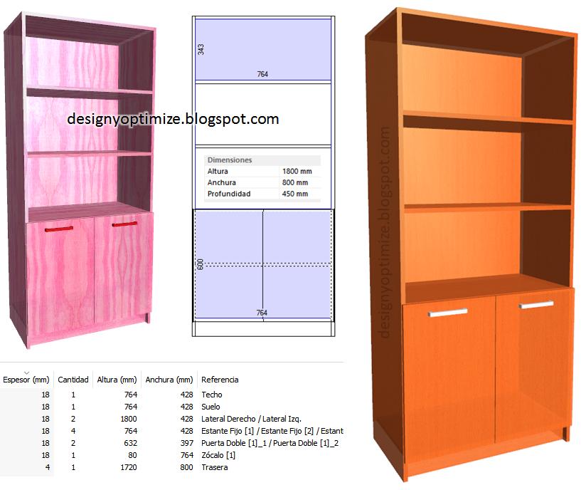Dise o de muebles madera crear una biblioteca con repisas for Programa para armar muebles