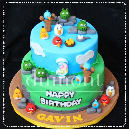 Dumont Cake Angry birds 2tier cake