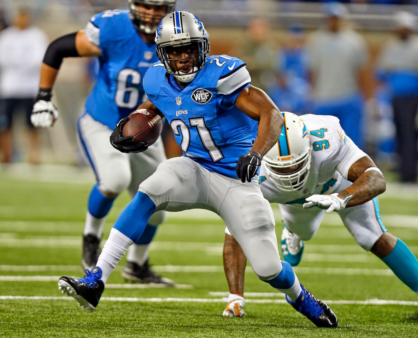 Detroit Lions — Reggie Bush, a consummate pro, will be missed