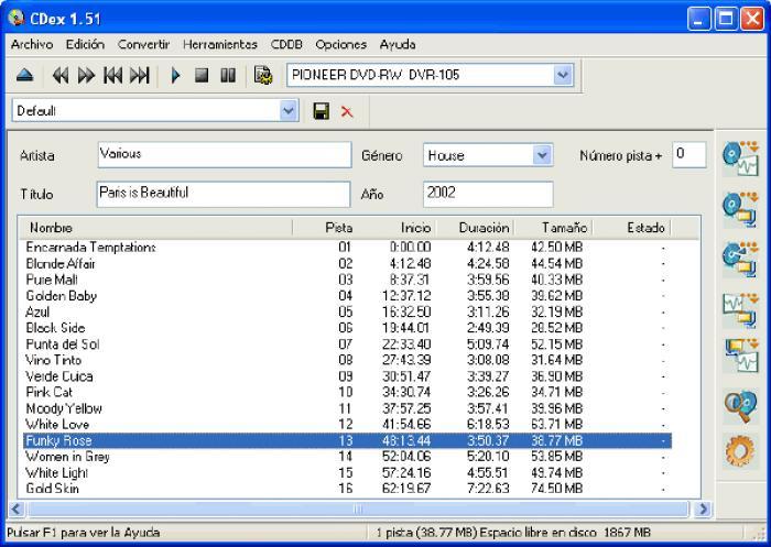 cdex programa para pasar las musica a la computadora desde CD