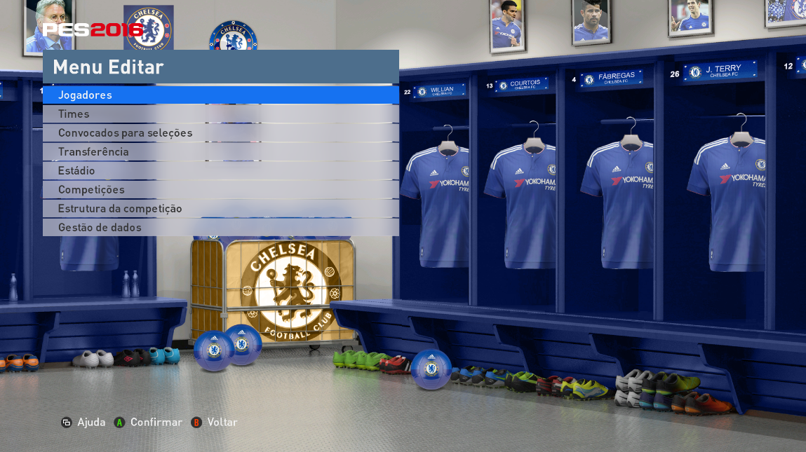 PES 2016 Chelsea FC Locker Room