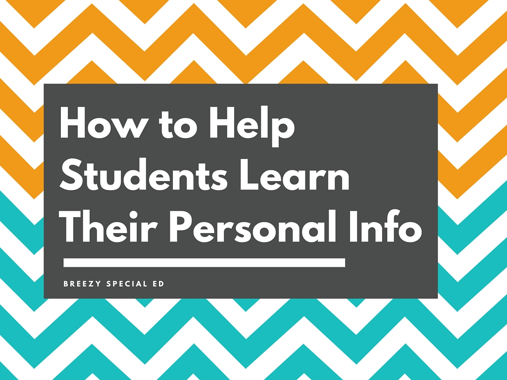 How to Teach Students Their Personal Information - Breezy Special Ed