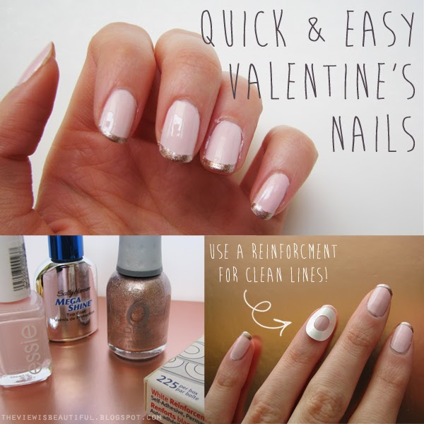 Quick & Easy Work Appropriate Valentine\'s Nails | The View Is Beautiful