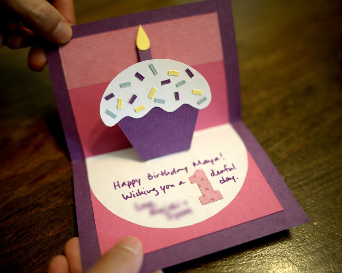 paper and plates: Cupcake Pop-Up Card