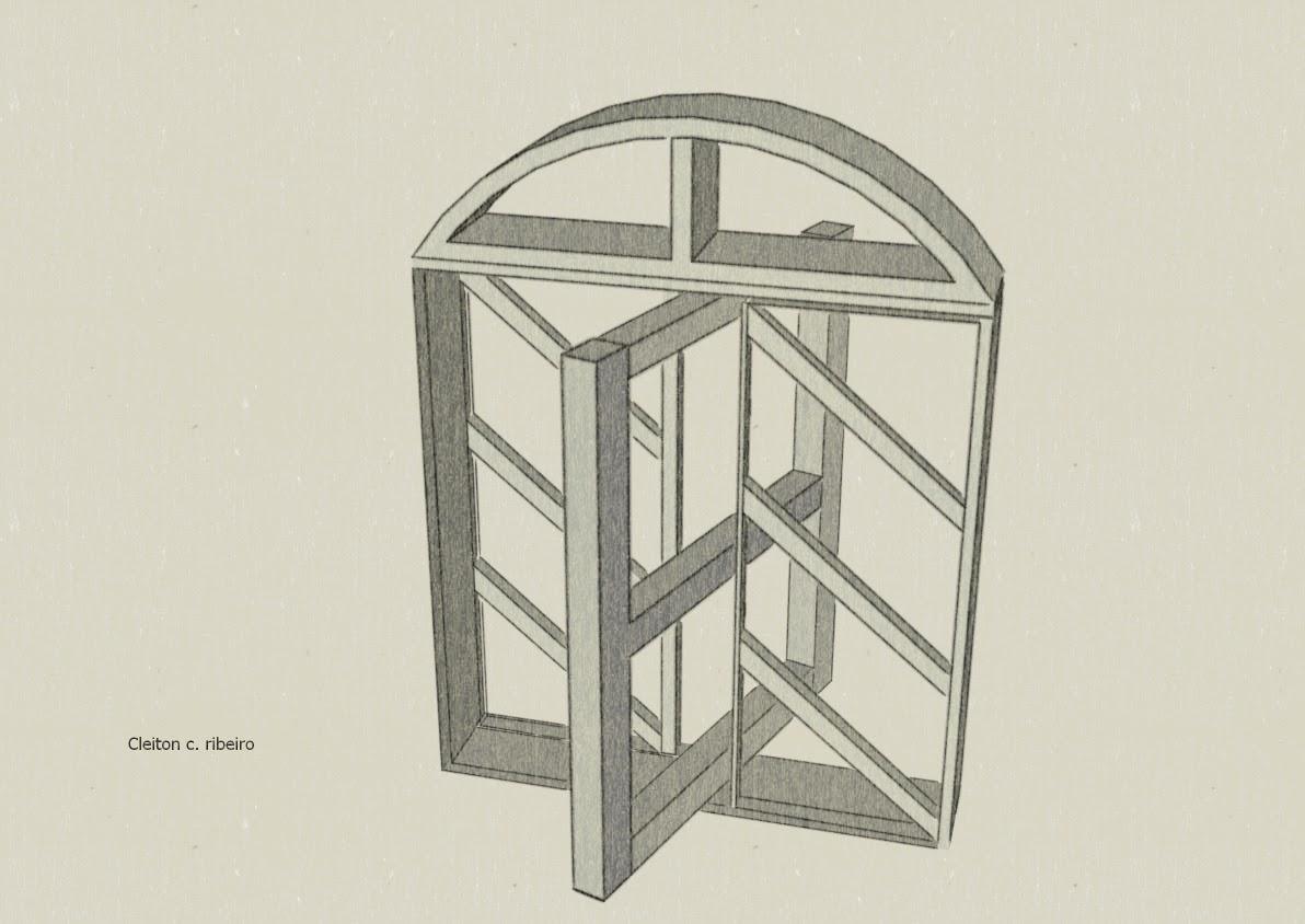 #7B7450 Grade de proteção para janelas tipo capela de madeira 566 Janelas Em Arco De Ferro