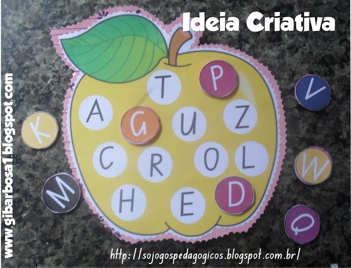 Excepcional Jogos Pedagógicos Ideia Criativa | Ideia Criativa - Gi Barbosa  PU91