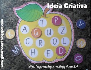 jogo pedagógico linguagem letras do alfabeto