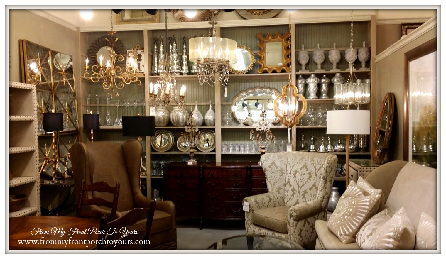 From My Front Porch To Yours Shopping With Mom Lauries Home Farmhouse Glam Living Room