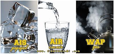 Ais Pepejal Air Cecair Wap Stim Gas