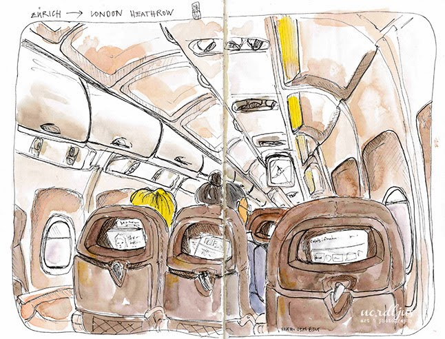 Nordljus airplane sketch