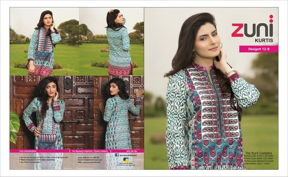 Amna Ismail designer kurtis collection