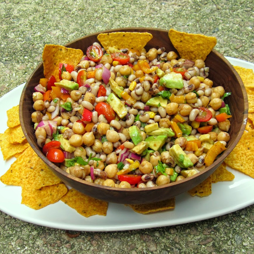 Homemade Texas Caviar- A perfect bean based salsa