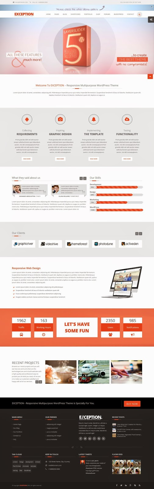 Best  Multipurpose WordPress Theme  2015