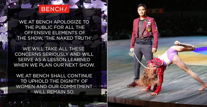 Bench Apologized About the 'Offensive Elements' of The Naked Truth Fashion Show