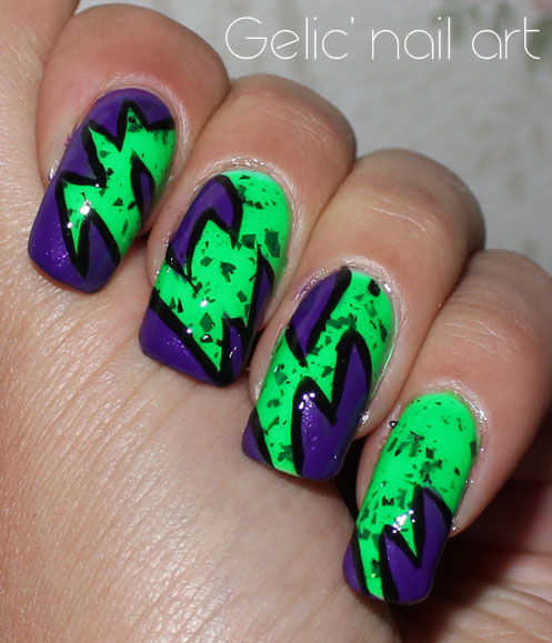 Gelic\' nail art: NCC presents: The incredible Hulk abstract nail art ...