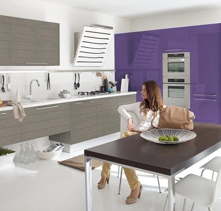 Perfect kitchen design kitchen remodeling and for Purple kitchen design