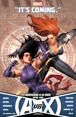 "Avengers vs X-Men ""It's Coming"" Promo Image - Psylocke vs Black Widow"