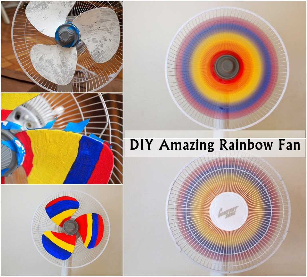 DIY Amazing Rainbow Fan