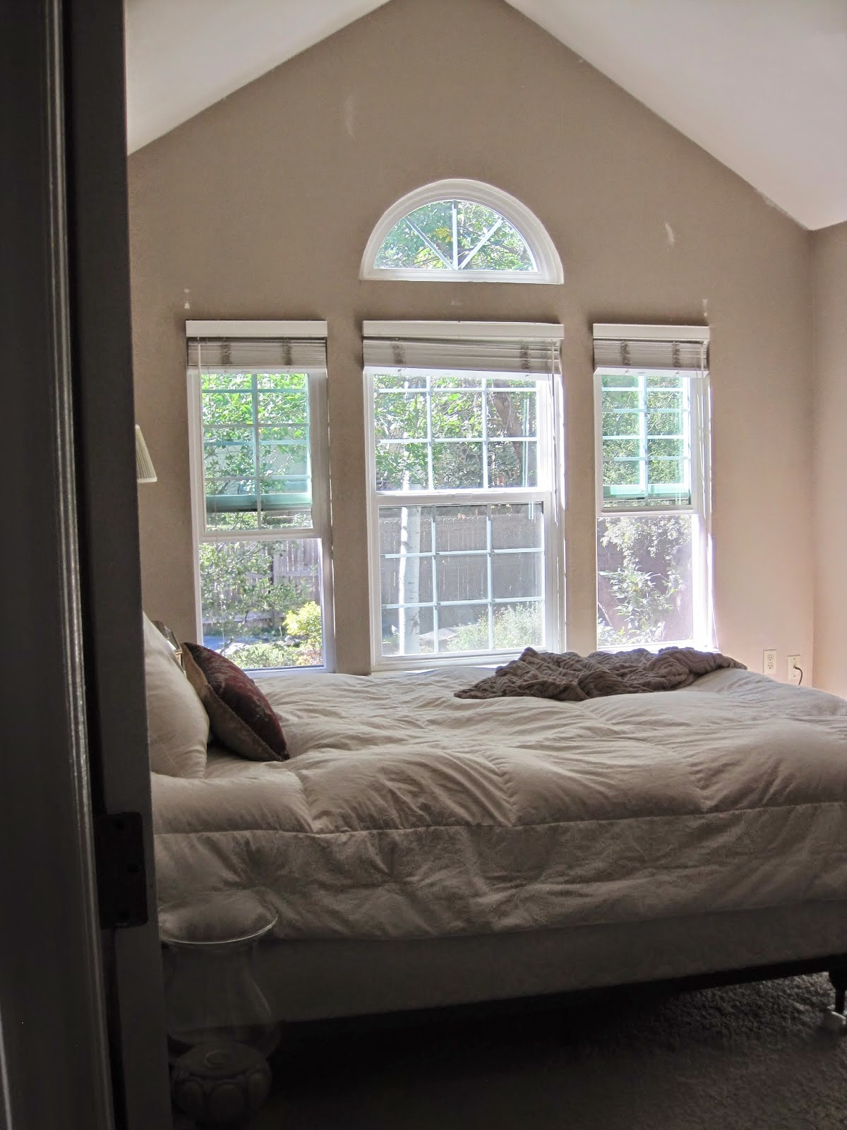 first up was rearranging the furniture placing the bed under the