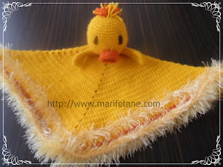 Yellow Ducky Blanket lovie