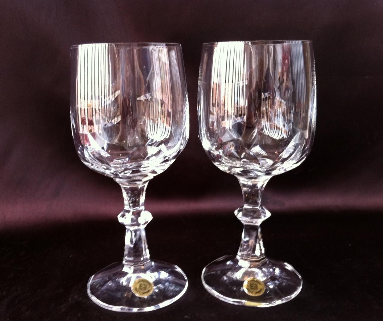 Liquidaci n porcelana y cristal n 288 pareja de copas for Copas de cristal