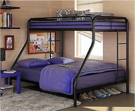 Cute Dorel twin over full bunk beds with free shipping