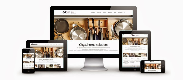Web responsive Okya, home solutions