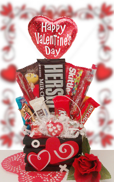 Valentines Day Donuts amp Candy Bouquet Gift Idea