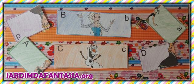 Quebra-Cabeça Frozen 2 Peças Letras do Alfabeto