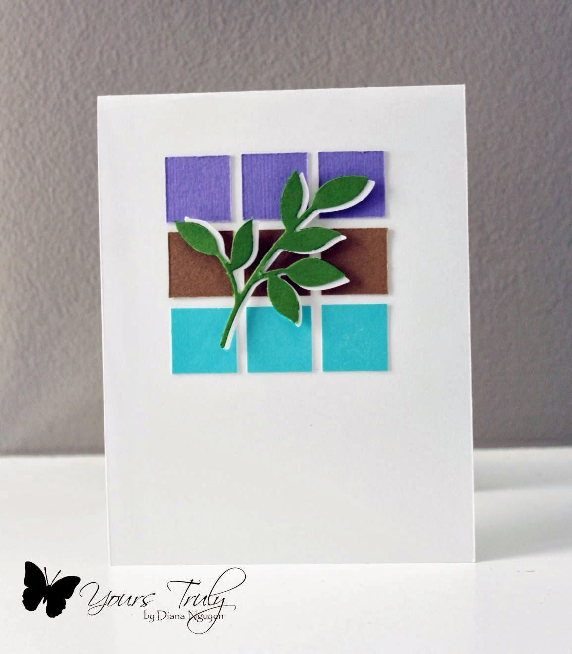 Diana Nguyen, color blocking, card