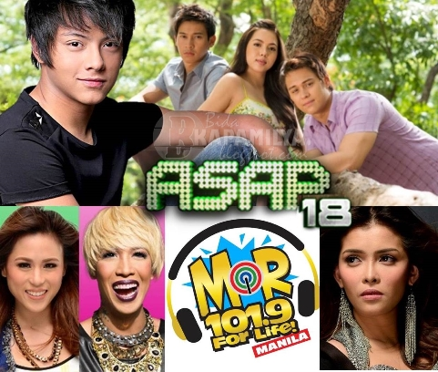 Primetime Bida idols Daniel, Julia, Enrique and Enchong on ASAP 18 (July 7)