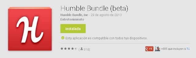 Por fin esta en Google Play la aplicación de Humble Bundle