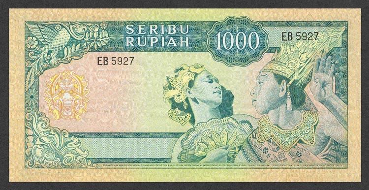 Love Indonesia: Indonesian Money 1000 Rupiah 1960