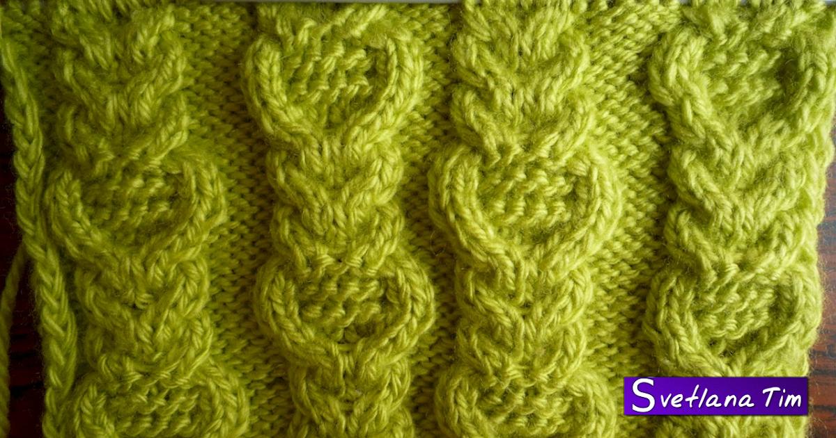 Видео Вязание спицами тканый узор 128